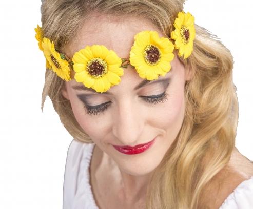 Stirnband Kopfband mit gelben Blüten