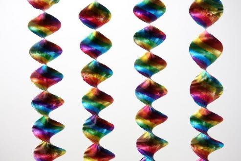 Spiral Girlande - Rotorspirale Regenbogen
