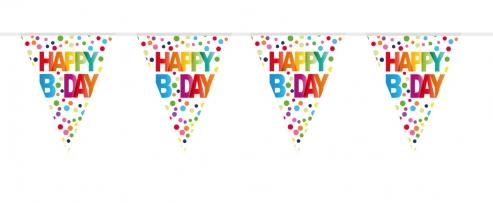 Wimpelkette Happy Birthday 10 mtr.