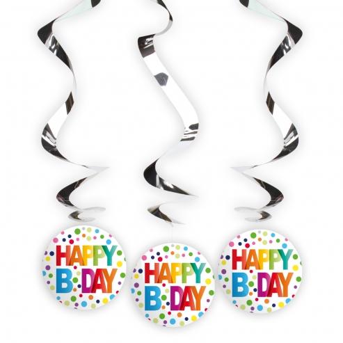 Rotor Spiralen Happy Birthday, 3er-Pack