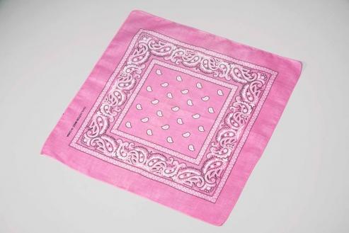Bandana bedruckt, ca. 55 x 55 cm, rosa