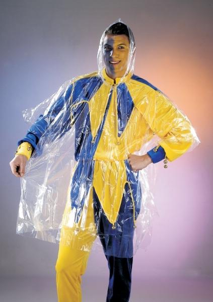 Wetterschutz Regenmantel für Faschingskostüm transparent