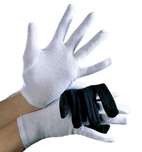Baumwoll-Handschuhe Damen und Herren, weiß oder schwarz