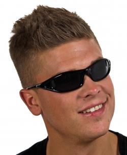 Punker Brille schwarz