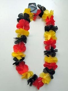 Blütenkette Hawaii mit Deutschlandfarbe