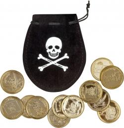 Piraten Münzbeutel mit 10 Münzen