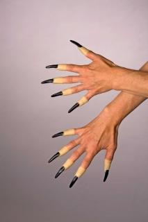 Plastik-Fingernägel, schwarz, zum Aufstecken