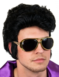 Faschingsbrille, Sonnenbrille Rockstar, Farbe gold
