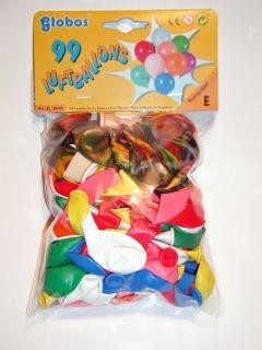 Luftballons bunt 99 Stk. sortiert