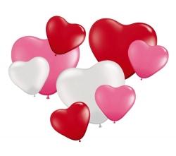Herzballon 8 Stk im Set