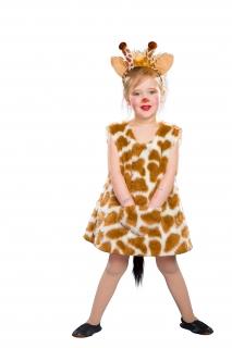 Giraffe Kleid mit Haarreif Kinderkostüm Tierkostüm