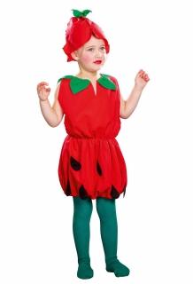 Erdbeere Kleid mit Mütze Kinderkostüm