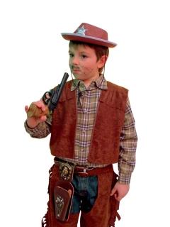 Cowboy Kostüm Weste für Kinder