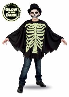 Skelettumhang Kinderkostüm fluoreszierend