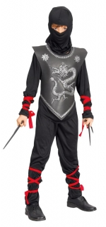 Ninja Kämpfer Oberteil Hose Brustpanzer Haube