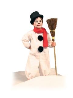 Schneemann Kostüm Overall mit Schal