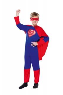 Superheld Overall mit Umhang und Maske