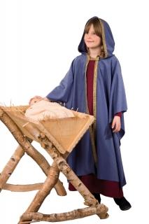 Heilige Maria Kleid und Umhang Krippenspiel Weihnachtskostüm