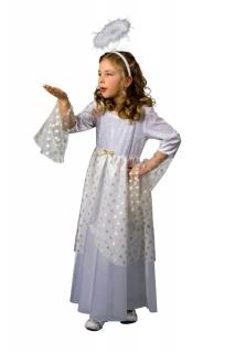 Engelskostüm Kleid Engel mit Sternen für Kinder