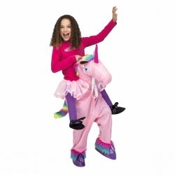 Einhorn Huckepack Kostüm für Kinder, Größe 140-164