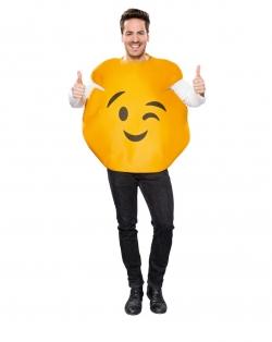 Emoticon Smiley Zeichen  Augenzwinker Universalgröße