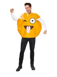 Emoticon Smiley Zeichen verrückt glücklich Universalgröße