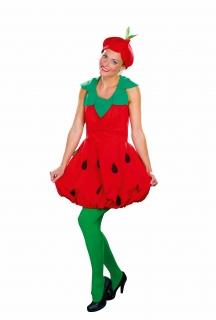 Erdbeere süße Frucht Kleid mit Kragen