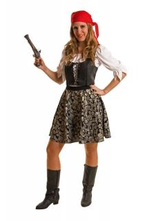 Piratenbraut inklusive Bluse, Weste, Rock, Bandana