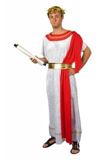 Cäsar Gewand Römer Kostüm Universalgröße Toga Schärpe Gürtel