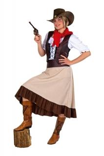 Western Girl Cowgirl Kostüm Rock, Weste, Tuch