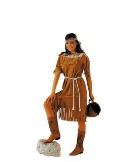 Indianerkostüm Squaw Größe 50/52