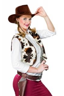 Cowboy Weste gefleckt Cowgirl