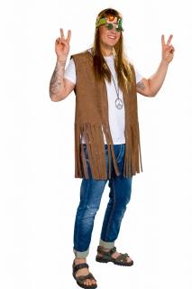 Hippie-Weste für Herren, braun