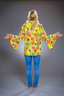 Hippie Bluse Oberteil Flower Power