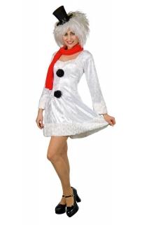 Kostüm Schneefrau Kleid mit Schal