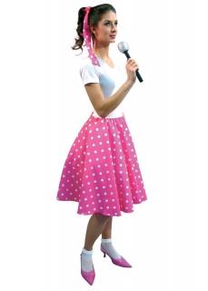 Rockabilly, Tellerrock, Rock-n-Roll Rock, 50er Jahre, Polka Dots pink
