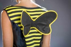 Bienenkostüm Wespe Hummel Kleid mit Flügel und Haarreif
