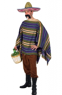 Mexikaner Kostüm Umhang Poncho
