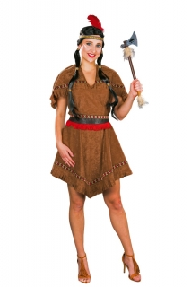 Indianer-Kleid Indianerin Kostüm Sioux