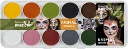 Aqua Farben Malkasten Tiere, 10 Farben