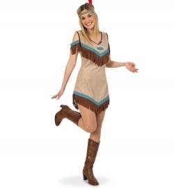 Indianerin, Kleid Damenkostüm