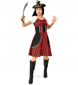 Piratenlady Piratenkostüm Damen Piratenkleid