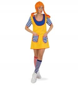 Freche Göre Wirbelwind Kleid Karlinchen Kostüm