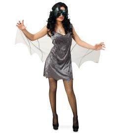 Fledermaus Kleid mit Chiffon Flügel