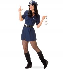 Polizistin sexy Police Girl Cop Kleid mit Gürtel