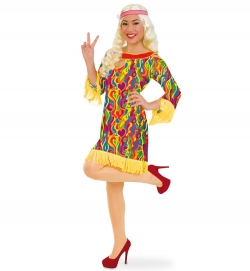 Hippie Flower Power Kleid Liz