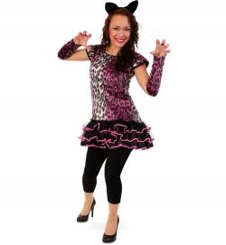 Kleid Leopard pink Tierkostüm