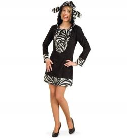 Zebra, Kleid mit Kapuze