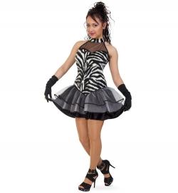 Zebra Tierkostüm Kleid