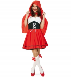 Rotkäppchen, Kleid mit Kapuzencape